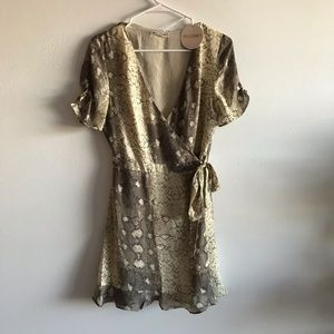 Dresses & Skirts - Snakeskin Wrap Mini Dress